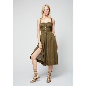 [Free People] Girlfriend Material Midi Dress 💚